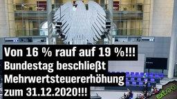 Von 16% rauf auf 19%!!! Bundestag beschließt Mehrwertsteuer-Erhöhung zum 31.12.2020!!!