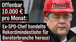 Offenbar 10.000 Euro pro Monat: Ex-SPD-Chef handelte Rekordmindestlohn für Beraterbranche heraus!