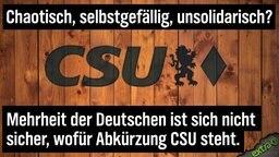 Chaotisch, unsolidarisch, selbstgefällig? Mehrheit der Deutschen ist sich nicht sicher, wofür die Abkürzung CSU steht.