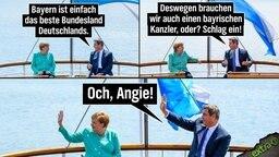 Merkel verweigert Söder ein High Five.