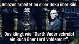 """Amazon arbeitet an einer Doku über BILD. Das klingt wie: """"Darth Vader schreibt ein Buch über Lord Voldemort""""."""