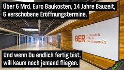 Über 6 Mrd. Euro Baukosten,14 Jahre Bauzeit, 6 verschobene Eröffnungstermine. Und wenn Du endlich fertig bist, will kaum noch jemand fliegen.