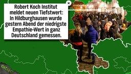 Robert Koch Institut meldet neuen Tiefstwert: In Hildburghausen wurde gestern Abend der niedrigste Empathie-Wert in ganz Deutschland gemessen.