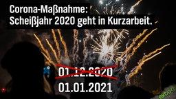 Corona-Maßnahme: Scheißjahr 2020 muss in Kurzarbeit. (1. Dezember 2020 durchgestrichen, stattdessen 1. Januar 2021)