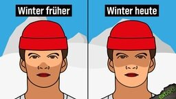 Winter früher (helle Haut um die Augen herum) - Winter heute (helle Haut um Nase und Mund)