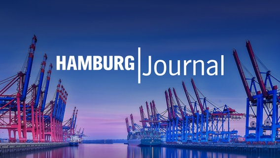 "Logo ""Hamburg Journal"": Sonnenaufgang im Hamburger Hafen © Getty Images/iStockphoto"