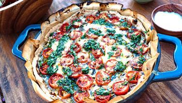 Spinat-Tomaten-Quiche