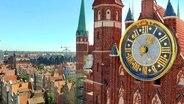 Die große Uhr an der Marienkirche. © NDR/MoersMedia/Peter Moers