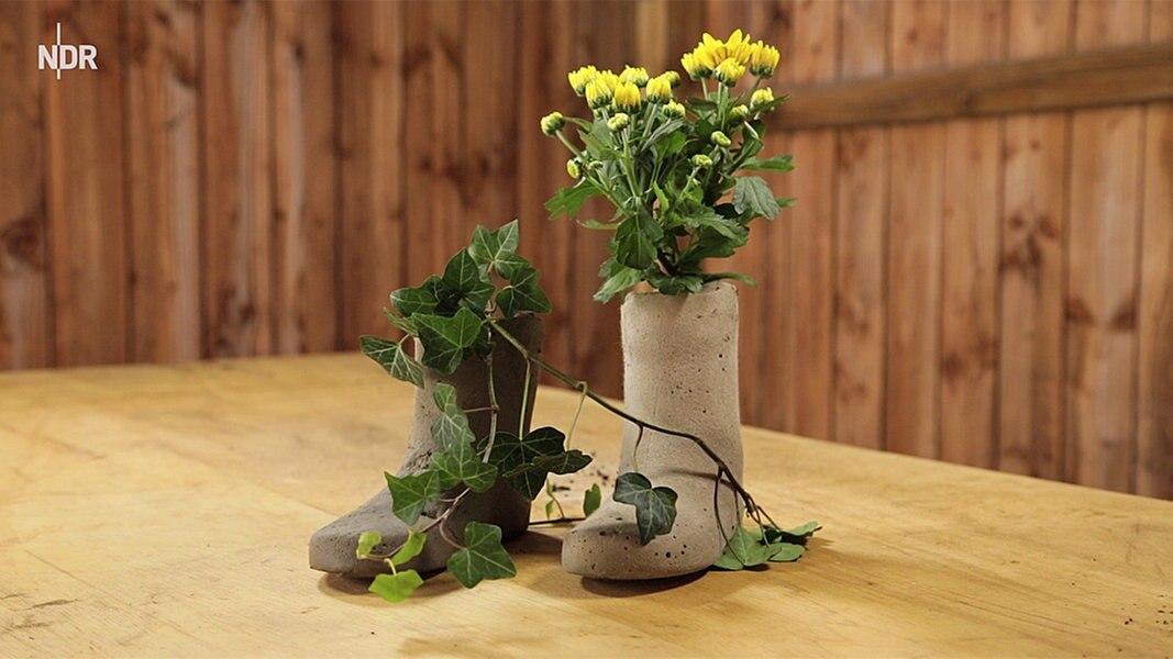 stiefel t pfe aus beton basteln fernsehen sendungen a z mein nachmittag. Black Bedroom Furniture Sets. Home Design Ideas