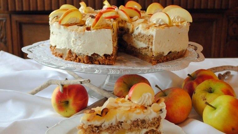 Aromatischer Apfel - Amarettini - Kuchen Rezept