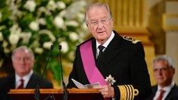Albert II. hält seine Abschiedsrede anlässlich seiner Abdankung © picture alliance / dpa