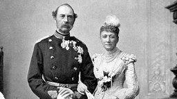 König Christian IX. mit seiner Frau Königin Luise. © Picture-Alliance / dpa