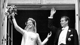 10. Juni 1967: Dänemarks Kronprinzessin Margrethe heiratet den französichen Grafen Henri de Laborde de Monpezat © Picture-Alliance / dpa / Polfoto