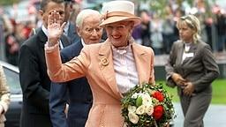 Königin Margrethe II. von Dänemark am 1. Septermber 2008 bei der Eröffnung einer dänischen Schule in Schleswig © dpa Bildfunk Foto: Jens Ressing