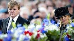 König Willem Alexander und Königin Maxima der Niederlande begehen den nationalen Totengedenktag am 04. Mai 2013 © ANP / Royal Images Fotograf: Robin Utrecht