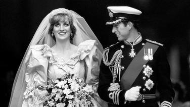 Das Brautpaar: Prinzessin Diana und Prinz Charles am 29. Juli 1981 © dpa - Report