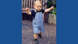 Prinz George läuft auf eigenen Beinen. Fotograf: John Stillwell