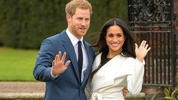 Prinz Harry und Meghan Markle präsentieren sich anlässlich ihrer Verlobung der Öffentlichkeit. © Picture-Alliance Fotograf: Dominic Lipinski