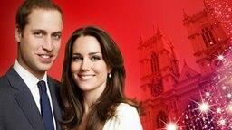 Bildmontage: Prince William und Catherine Middleton vor Westminster Abbey. © picture alliance / dpa, fotolia Foto: Mario Testino, Jochen Lübke, senoldo