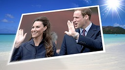 Bildmontage: Prince William und Catherine Middleton vor den Seychellen. © picture alliance, NDR, Fotolia Foto: Photoshot, Stephan Behrens, Luiz