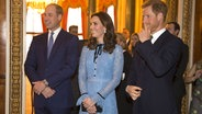 Anlässlich des World Mental Health Day geben Prinz William, Herzogin Catherine und Prinz Harry einen Empfang im Buckingham Palace. © Picture-Alliance / Empics