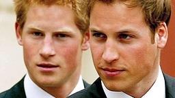 Prinz William (Vordergrund) und Prinz Harry © dpa Fotograf: Steve Parsons
