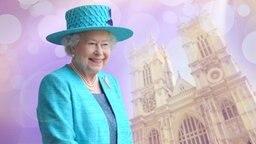 Queen Elizabeth II vor dem Westmister Abbey. (Montage) © picture alliance / dpa, picture alliance / Photoshot Fotograf: Jochen Lübke,