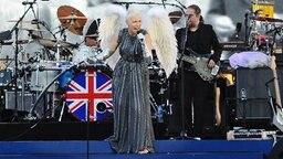 Annie Lennox bei ihrem Auftritt am 4. Juni zu Ehren des Thronjubiläums von Queen Elizabeth. © dpa picture alliance Foto: Ian West