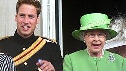 Prinz William und seine Großmutter Queen Elizabeth II. bei der Geburtstagsparade Trooping the Colour im Jahr 2007 © Picture-Alliance / dpa /  Royal Press Europe Fotograf: A. Nieboer