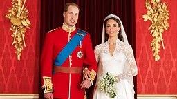 William und Kate auf einem offiziellen Hochzeitsbild von Hugo Burnand © dpa Bildfunk Fotograf: Hugo Burnand