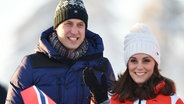 Der britische Prinz William und seine Frau, Herzogin Kate, besuchen ein Ski-Event in Norwegen. © picture alliance / empics Fotograf: Dominic Lipinski
