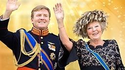 Kronprinz Willem-Alexander und Königin Beatrix winken. (Bildmontage) © Picture-Alliance, fotolia.com Fotograf: Patrick van Katwijk, Argus, Patrick van Katwijk (Königspaar)