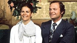 15. März 1976: König Carl XVI. Gustaf von Schweden und Silvia Sommerlath feiern Verlobung © Picture-Alliance / dpa
