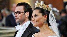 Victoria und Daniel während der Trauung © dpa Bildfunk Fotograf: Pontus Lundahl