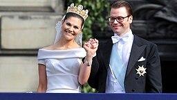 Kronprinzessin Victoria von Schweden mit ihrem Ehemann Daniel Westling © dpa Bildfunk Fotograf: Jochen Luebke