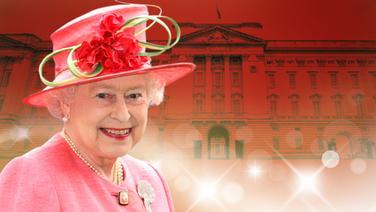 Queen Elizabeth II vor Buckingham Palace (Bildmontage) ©  imago/Frank Sorge, imago/Mario Aurich