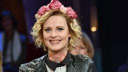 """Jennifer Weist, Sängerin der Band """"Jennifer Rostock"""", zu Gast in der NDR Talk Show am 24.01.2014 © NDR/Uwe Ernst Foto: Uwe Ernst"""