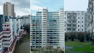 Eine Collage von drei Hochhaussiedlungen. © NDR Foto: Screenshot