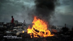 Die Elektroschrott-Müllkippe Agbogbloshie in Ghanas Hauptstadt Accra zählt zu den zehn giftigsten Orten der Welt. © NDR/ARD