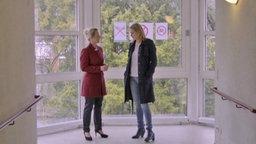 Sozialdezernentin Heike Jüngling mit Anja Reschke © Infratest Dimap