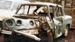 Dieter Wollenwebers Fahrzeug: ein Wrack. © NDR