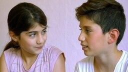 Dinaz und ihr Bruder Zana