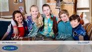 E-Card der Pfefferkörner, 8. Generation: Jale (Ava Sophie), Stella (Zoë Malia Moon), Pinja (Sina Michel), Till (Otto von Grevenmoor) und Ramin (Jan Piet) © NDR Foto: Claudia Timmann