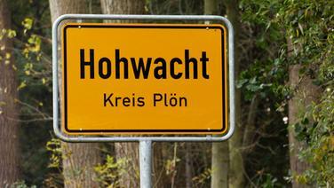 Ortsschild von Hohwacht im Kreis Plön © NDR Fotograf: NDR