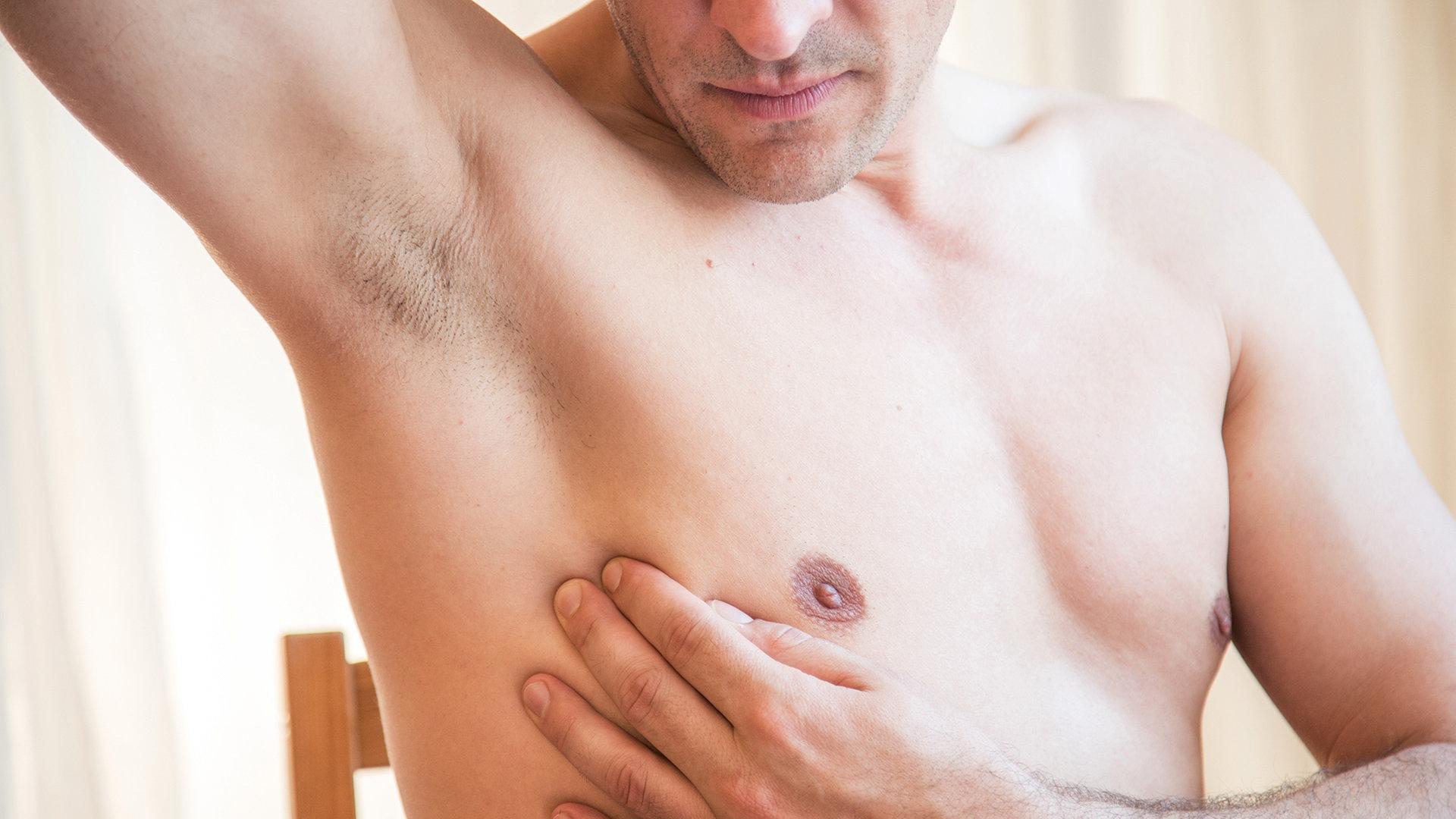 Adern an der brust