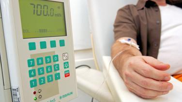 Patient bei der Chemotherapie © dpa - Report Foto: Gero Berloer