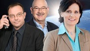Thomas Aders,  Rolf-Dieter Krause und Sandra Ratzow (Bildmontage) © WDR/Herby Sachs, SWR/A. Kluge, NDR/Frank Siemers, Fotolia Fotograf: Herby Sachs, A. Kluge, Frank Siemers, PaulPaladin