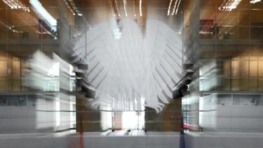 Der Bundesadler im Deutschen Bundestag © picture-alliance/dpa Fotograf:  Peer Grimm