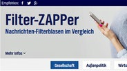 Screenshot Filterzapper. © NDR