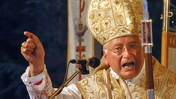 Bischof Walter Mixa bei einer Predigt am 15.08.2007. © dpa Fotograf: Stefan Puchner
